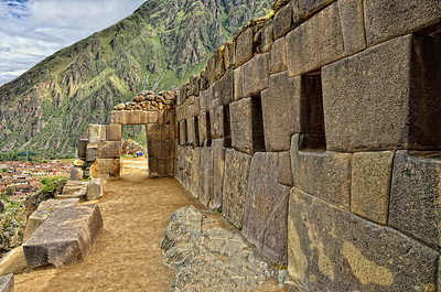 Inca outpost near the gateway to the temple of the sun