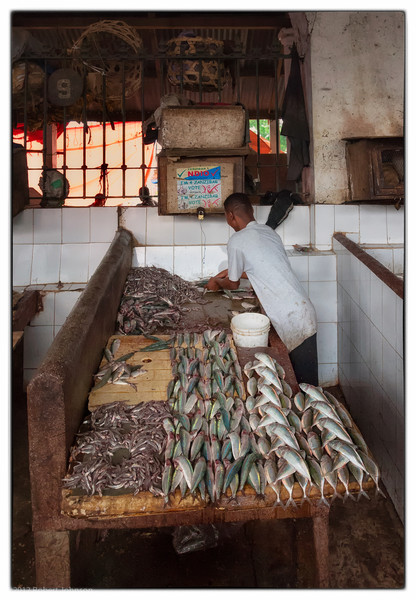 Fish market in Zanzibar