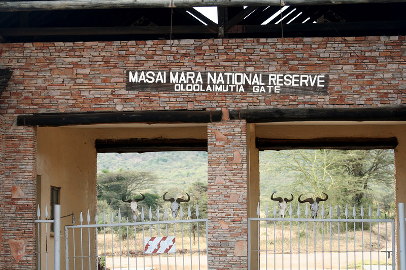One of the entrances to Masai Mara National Park.