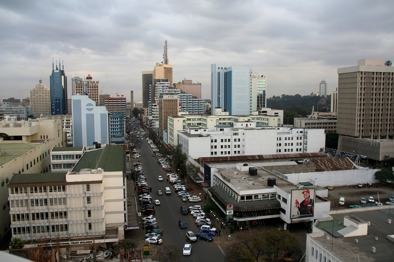 The town of Nairobi