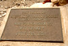 Plaque identifying where discoveries were made by the Leakeys.