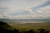 Ngrongoro Crater with a soda lake seen from the rim.