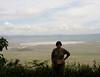Self with the Ngorongoro Crater backdrop