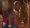 Elderly Maasai woman inside the hut.