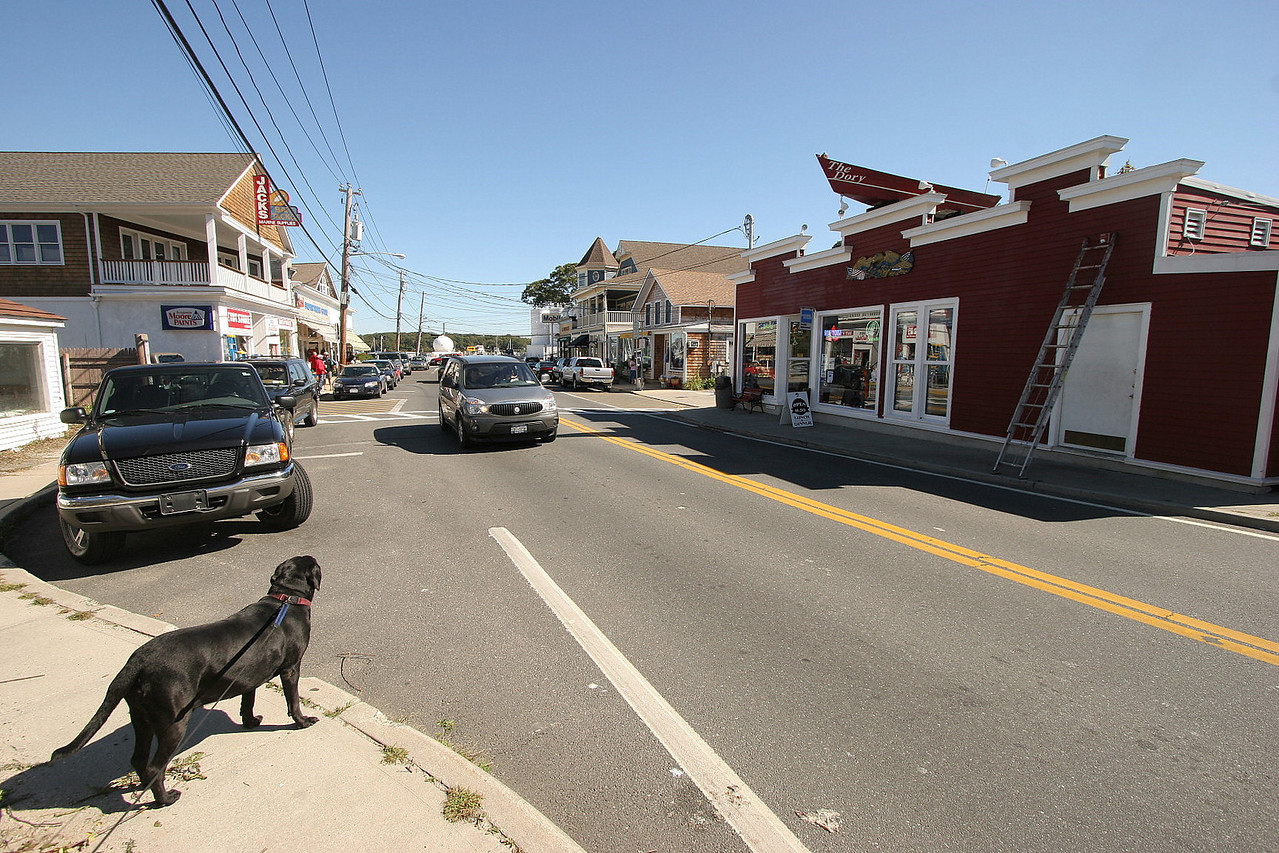 This is the center of town on Shelter Island.