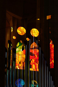 reflection on organ pipes
