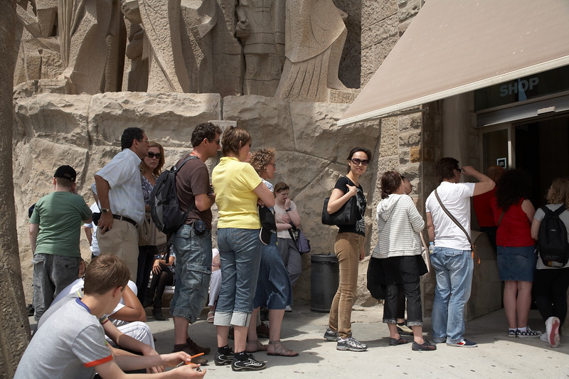 Sagrada Familia even had a line to get into the gift shop!