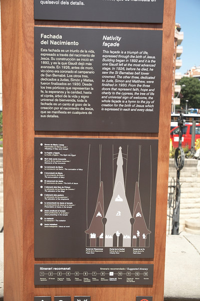 This sign describes the scenes that are part of the Nativity Facade. View at full size to read.