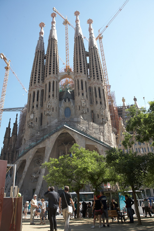 This is the south side of Sagrada Familia. This side has the Passion Facade.