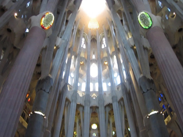 This video clip focuses on the oculus above the altar.