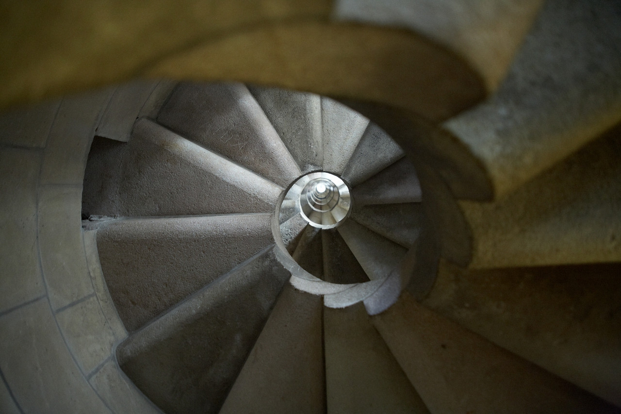 Another spiral staircase shot in the same vein as the Vatican. I saw a similar shot on a postcard in the gift shop, later.