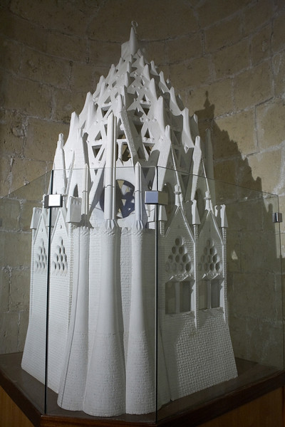 One of the models in the basement of the cathedral.