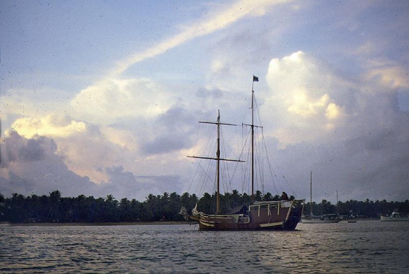 Anchored in Majuro, Marshall Islands.