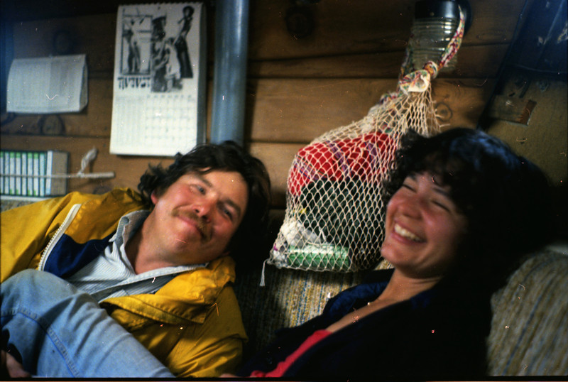 Perry and Monica on board the Fishers Hornpipe, behind Angel Island