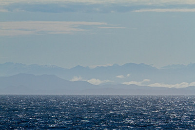 Early morning, travelling through the Inside Passage