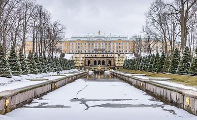View back towards Peterhof