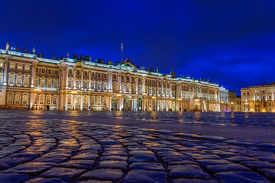 Winter Palace at night