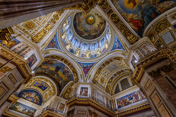 Interior of Saint  Isaac's Cathedral