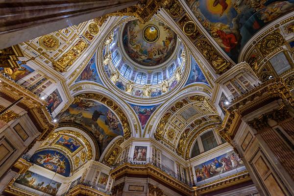Interior of Saint  Isaac's Cathedral