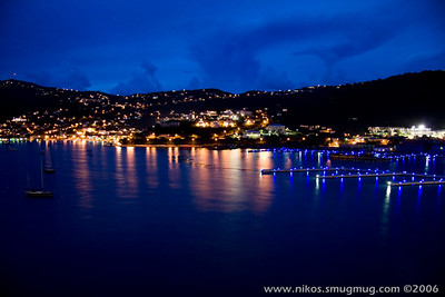 Dawn shot of Charlotte Amalie