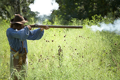 Finally, the musket fires.