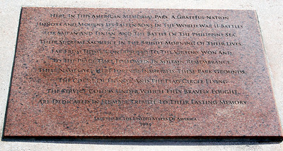 Plaque to Saipan and Tinian Dead