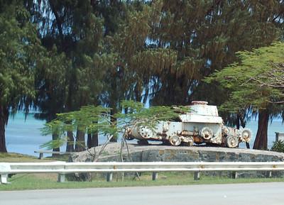 Tank along Saipan Beach