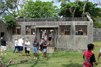 Visitors pore over the Site