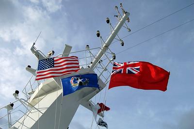 Ships Flags with Saipan Flag