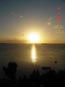 Sunset view from the Hafa Adai Hotel.