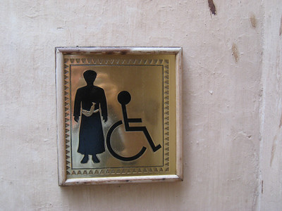 Sign for the Gents