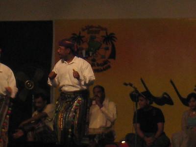 Omani dancer and musicians