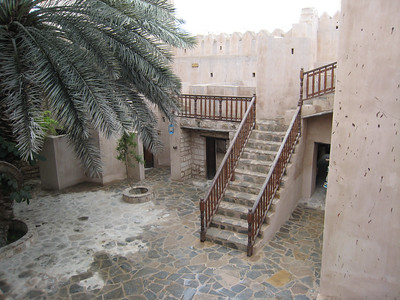 Interior courtyard of Taqa Castle.