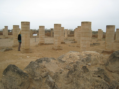 Part of the Grand Mosque at al Baleed archaeological site.