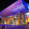 The Lowry theatre at night