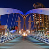 Millennium Footbridge at night
