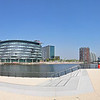 Panoramic view of Media City UK