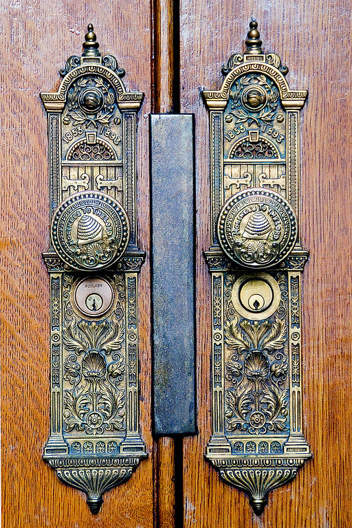 The details all over the temple are so intricate.  These are the door handles on the south doors.