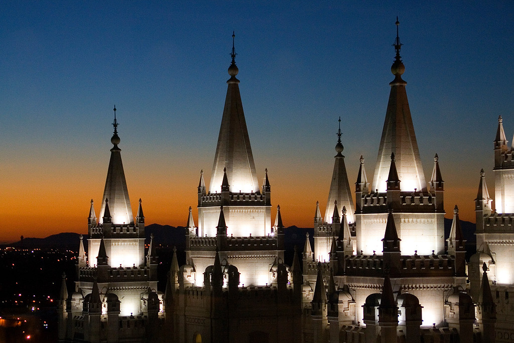 A closer view of the temple spires from the Roof restaurant.