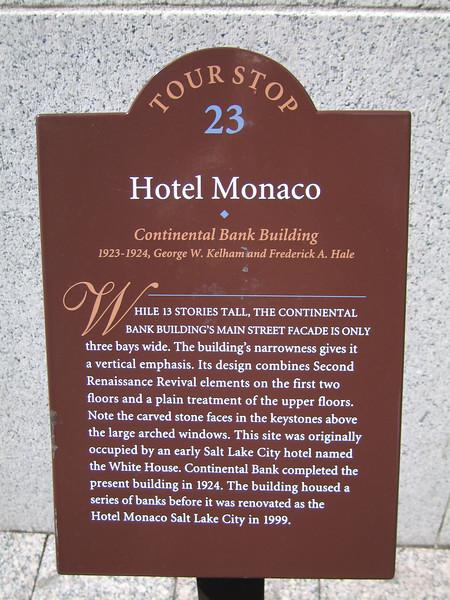 Hotel Monaco, Salt Lake City, UT. 8 Apr 2007