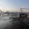 De-icing the airplane before take-off at Salt Lake Airport , Utah.