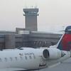 Airport tower and terminal at Salt Lake, Utah.