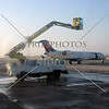 De-icing the airplane before take-off at Salt Lake Airport , Utah.