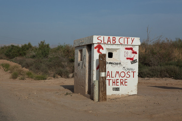 Slab City. We didn't drive to Slab City but saw the city from the top of Salvation Mountain.