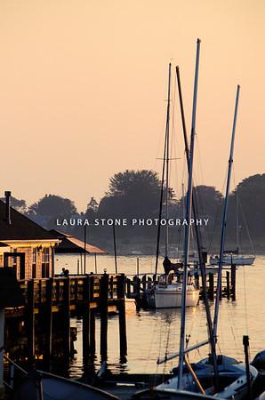 Sunset in Stonington, Connecticut
