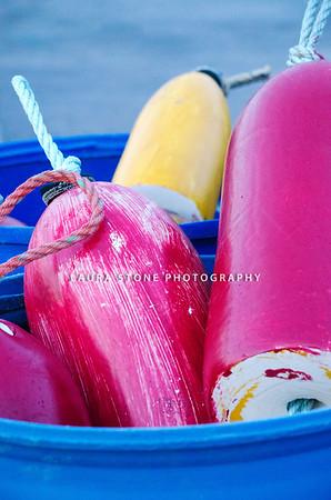Bucket of buoys, Stonington, Connecticut