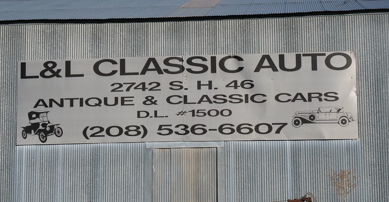 """L&L Classic auto is located in the town of wendell (Pop. 2,378, elevation 3,432'), in the Southwestern corner of Idaho, roughly 100 miles from boise. the yard was founded in 1961 by larry holms, who still owns the property ... although it is, or was when this shoot was done, for sale. asking price is $3 million -- all 120 acres and all 8,000 or so vehicles, in whole and in part.  In addition, there are an estimated 400 """"project"""" vehicles, meaning sufficiently intact as to warrant restoration."""