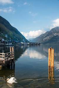 View of Hallstatt from south. Hallstatt, Upper Austria, is a village in the Salzkammergut, a region in Austria. It is located near the Hallstätter See.