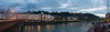 Lovely panoramic view of Salzburg, with the river Salzach in the foreground in the late evening hours.