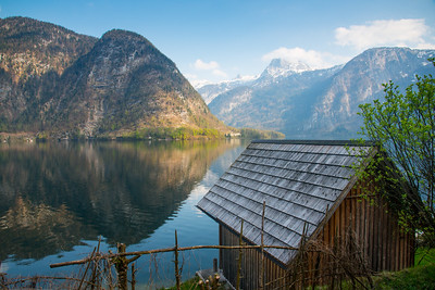 Lake view at Altmünster, near Hallstatt, Austria.